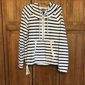 AE Sweatshirt Pull Over Striped 1/4 ZIp